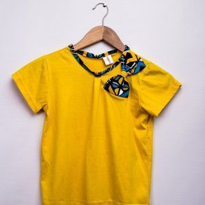Girls T- Shirt With African Print Various Designs